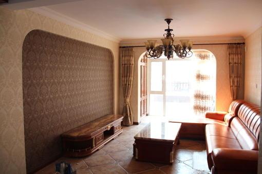 美式田园风格客厅沙发背景墙装修效果图 图片