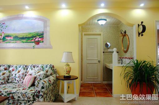 室内米黄色 立邦墙面漆 效果图欣赏 hao12