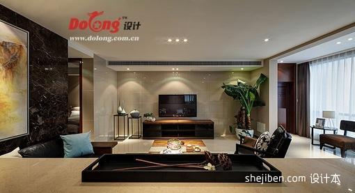 100平米三室一厅客厅电视背景墙装修设计图