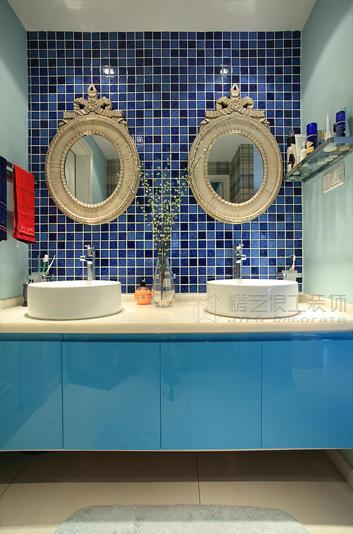 地中海风格装修卫生间瓷砖效果图 图片 hao12