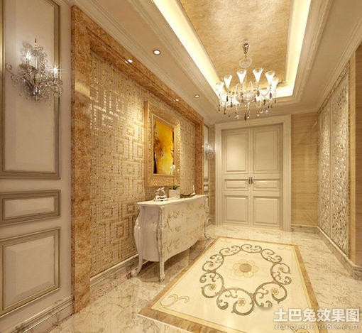别墅地板效果图图片 客厅地板装修效果图,灰色地板配家具效