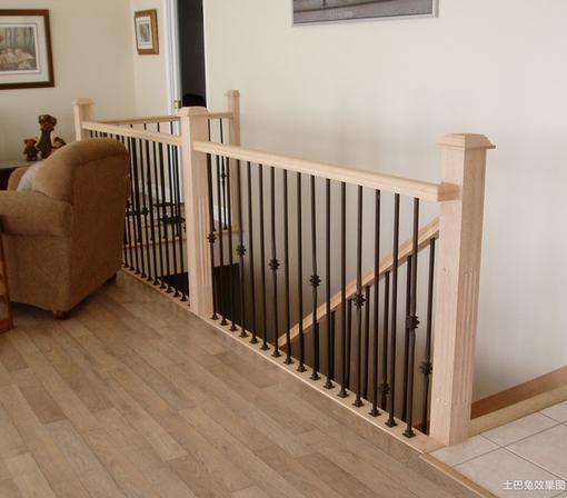 室内实木楼梯栏杆效果图集 hao123网址