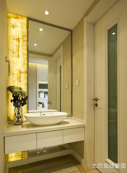 现代卫生间洗脸盆装修效果图 hao123网