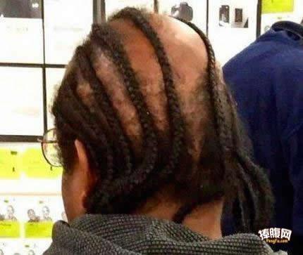 这点头发还扎辫子!